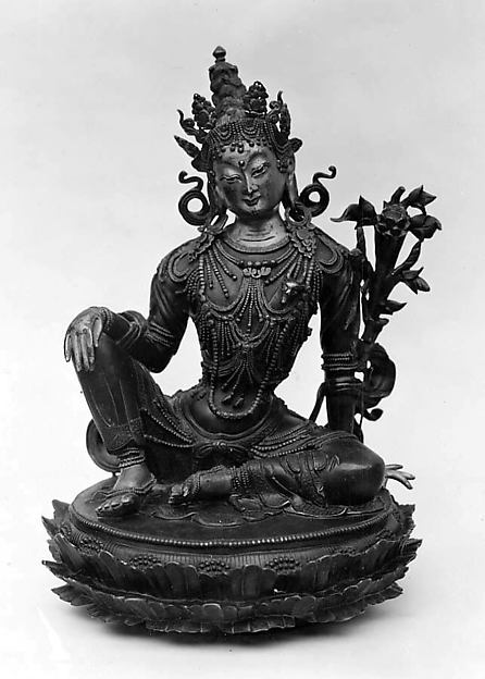 Seated Padmapani, Bronze, Tibet