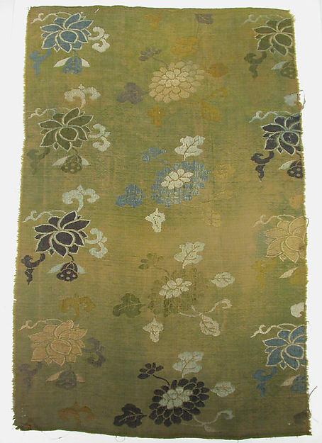 Piece, Silk, metallic thread, China