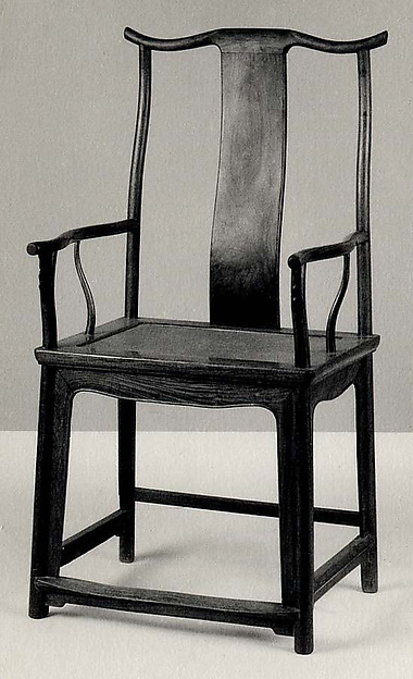 Armchair (One of a Pair), Hardwood (huali), China