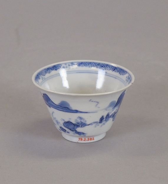 Cup, Porcelain painted in underglaze blue, China