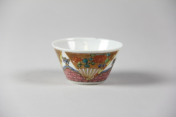 Cup, Porcelain painted in overglaze polychrome enamels and gilt, China
