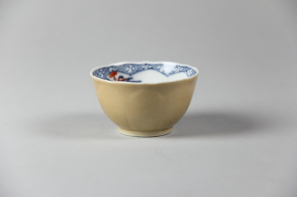 Cup, Porcelain painted in underglaze blue, coffee-colored glaze on reverse, China