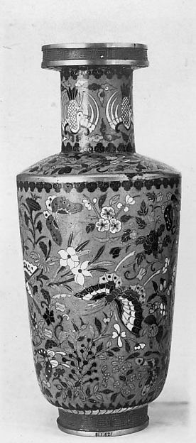 Vase, Cloisonné enamel, copper, China