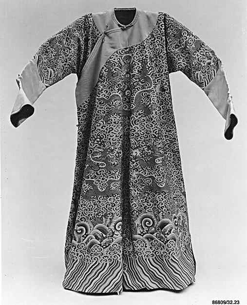 Imperial robe, Silk, metallic thread, China