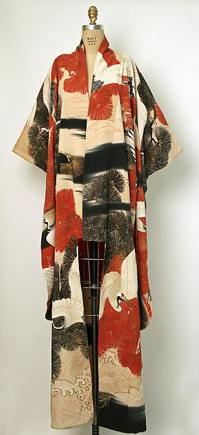 Furisode, silk, Japanese