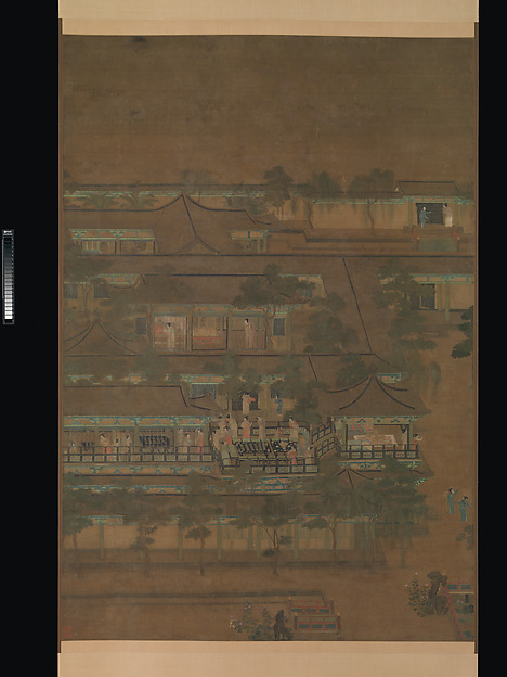 Palace banquet, Unidentified Artist Chinese, active late 10th–11th century, Hanging scroll; ink and color on silk, China