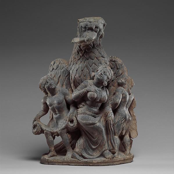 Garuda Vanquishing the Naga Clan, Schist, Pakistan (ancient region of Gandhara)