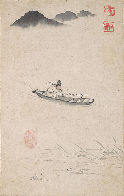Returning Home, Shitao (Zhu Ruoji) (Chinese, 1642–1707), Album of twelve leaves; ink and color on paper, China