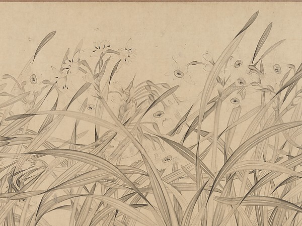 Narcissus, Zhao Mengjian (Chinese, 1199–before 1267), Handscroll; ink on paper, China