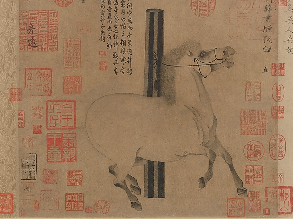 Night-Shining White, Han Gan (Chinese, active ca. 742–756), Handscroll; ink on paper, China