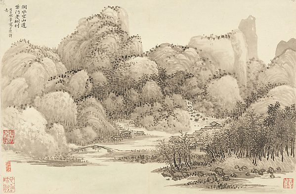 Landscapes after old masters, Wang Hui (Chinese, 1632–1717), Album of twelve leaves; ink and color on paper, China