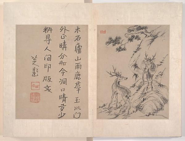 Attributed to Bada Shanren (Zhu Da) (Chinese, 1626–1705), Album of twelve paintings; ink wash on paper, China