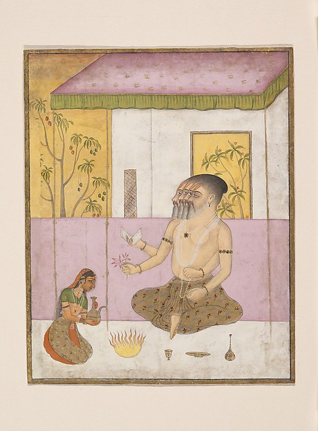 Khambhavati Ragini: Folio from a ragamala series (Garland of Musical Modes), Ink, opaque watercolor, and gold on paper, India (Rajasthan, Bikaner)