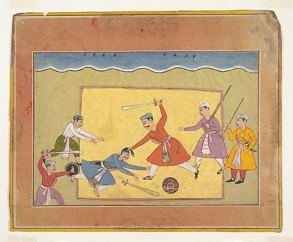 Unidentified Page from a Dispersed Bhagavata Purana (Ancient Stories of Lord Vishnu), Ink and opaque watercolor on paper, India (Rajasthan, Bikaner)