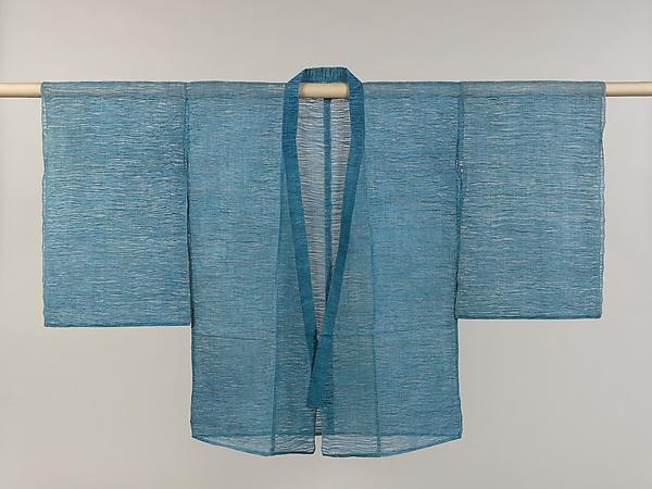 Noh Costume (Mizugoromo), Plain-weave bast fiber, ramie warp and hemp weft, Japan