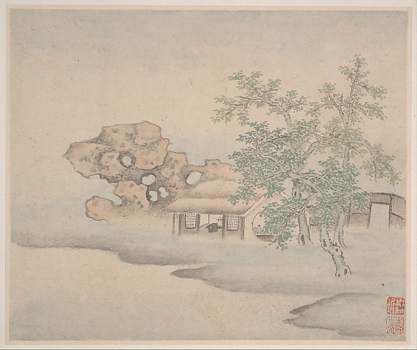 Landscapes, Fan Qi (Chinese, 1616–after 1694), Album of eight leaves; ink and color on paper, China