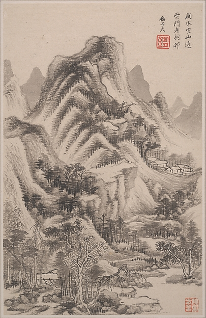 Landscapes in the styles of old masters, Wang Jian (Chinese, 1609–1677 or 1688), Album of ten paintings; ink and color on paper, China