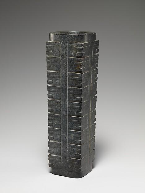 Ritual Object (Cong), Jade (nephrite), China