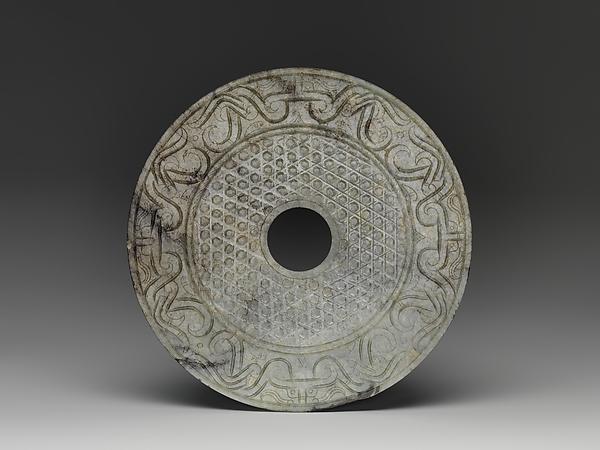 Disc (Bi), Jade (nephrite), China