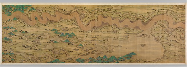 Ten Thousand Miles along the Yellow River, Unidentified Artist Chinese, active late 17th–early 18th century, Two handscrolls; ink, color, and gold on silk, China
