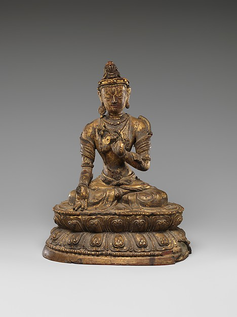 Seated Tara, Dry lacquer, Tibet