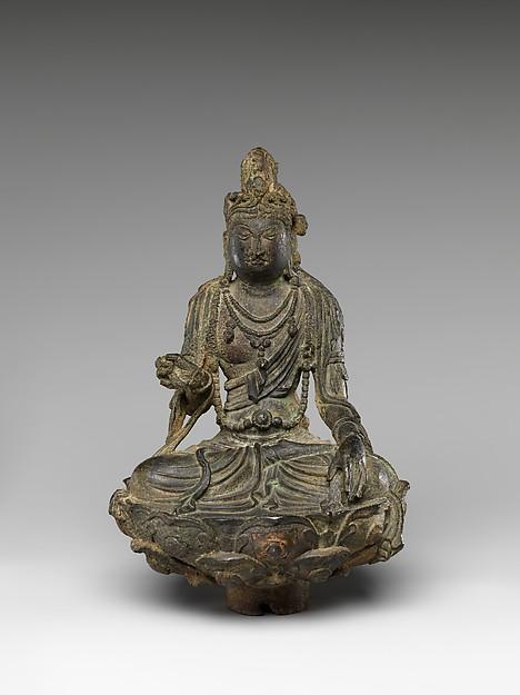 Bodhisattva, Gilt leaded bronze, China