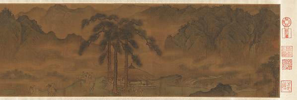 A Diplomatic Mission to the Jin, Attributed to Yang Bangji (Chinese, ca. 1110–1181), Handscroll; ink and color on silk, China