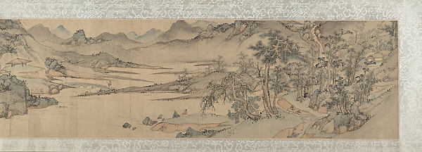 Landscape, In the Style of Wen Boren (Chinese, 1502–ca.1575), Handscroll; ink and color on paper, China