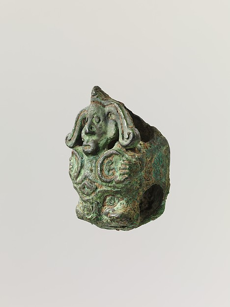 Small Figure, Bronze with green patina, China