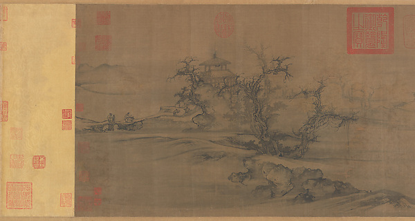 Old Trees, Level Distance, Guo Xi (Chinese, ca. 1000–ca. 1090), Handscroll; ink and color on silk, China