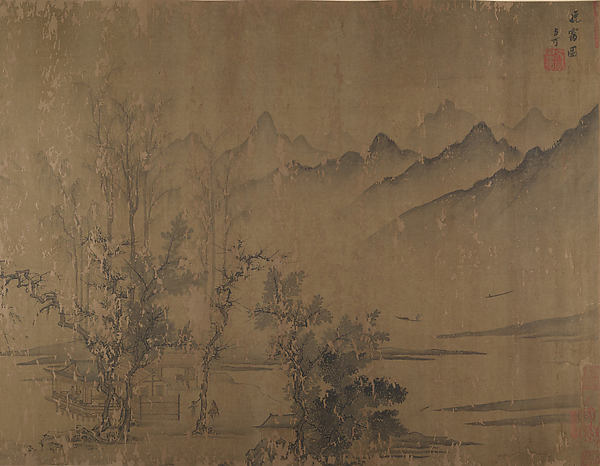 Rosy Sunset, Attributed to Wen Tong (Chinese, 1019–1079), Handscroll; ink and color on silk, China