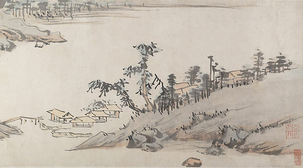 River Landscape, Attributed to Chen Chun (Chinese, 1483–1544), Handscroll; ink and color on paper, China