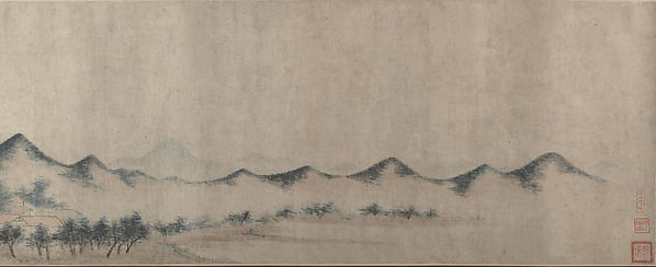Landscape, Unidentified Artist, Handscroll; ink and color on silk, China