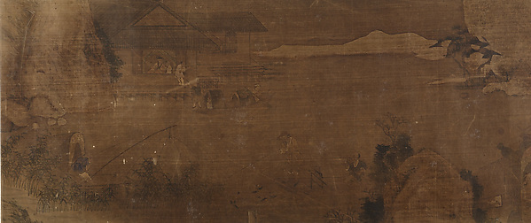 Fishing Scene, Unidentified Artist, Handscroll; ink and color on silk, China