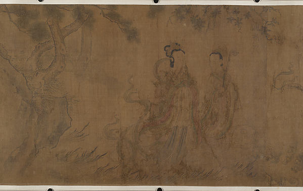 The Nine Songs: Illustrations to the poems of Qu Yuan (343–277 B.C.), Unidentified Artist Chinese, Handscroll; ink and color on silk, China