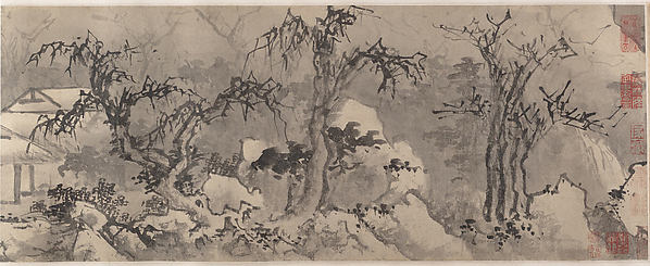 Winter Landscape, Attributed to Jiang Song (Chinese, first half of 16th century), Handscroll; ink and color on paper, China