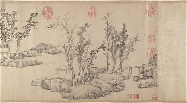 Summer Retreat in the Eastern Grove, Wen Zhengming (Chinese, 1470–1559), Handscroll; ink on paper, China