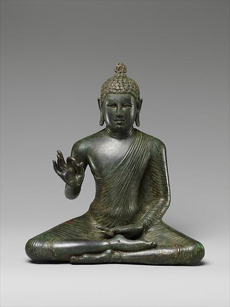 Buddha Expounding the Dharma, Copper alloy, Sri Lanka (Anuradhapura)