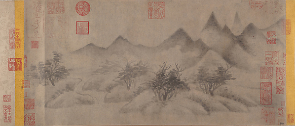 Cloudy Mountains, Mi Youren (Chinese, 1074–1151), Handscroll; ink on paper, China