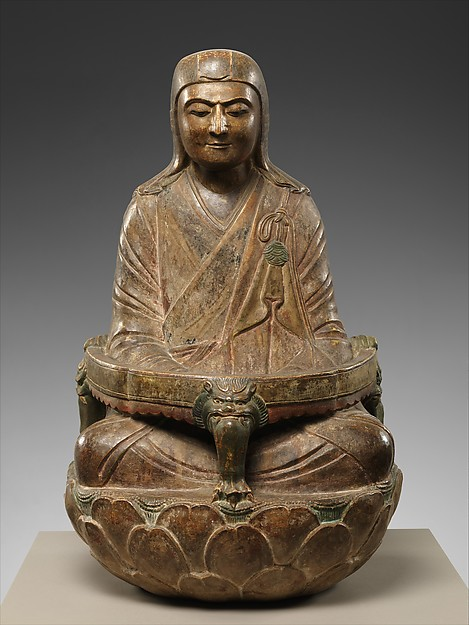 Monk Sengqie, Limestone with pigment, China