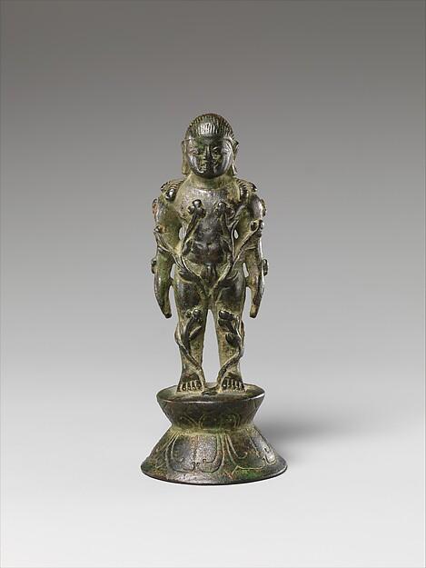 Jain Siddha Bahubali, Entwined with Forest Vines, Copper alloy, India (Karnataka)