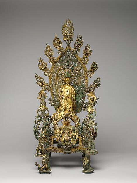 Buddha Maitreya (Mile), Gilt bronze, China