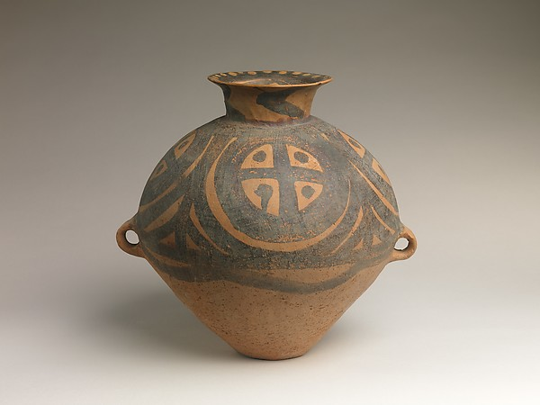 Jar (Guan), Earthenware with painted decoration, China