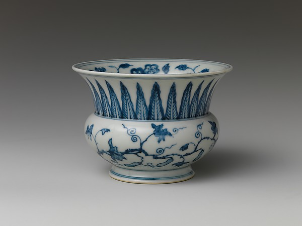 Jar with Scrolling Vine and Gourds, Porcelain painted with cobalt blue under transparent glaze (Jingdezhen ware), China