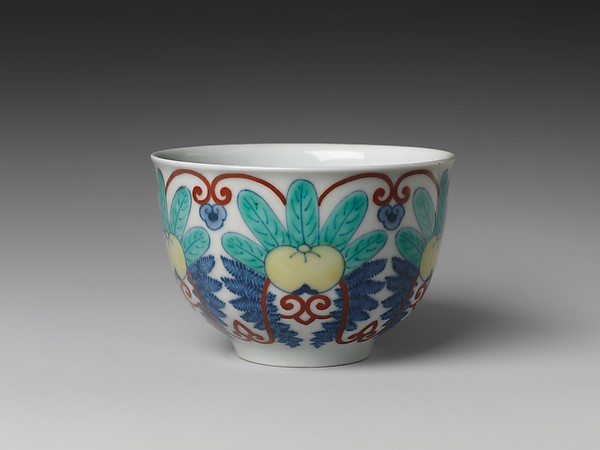 Cup, Porcelain with underglaze blue and overglaze enamels (Hizen ware, Nabeshima type), Japan
