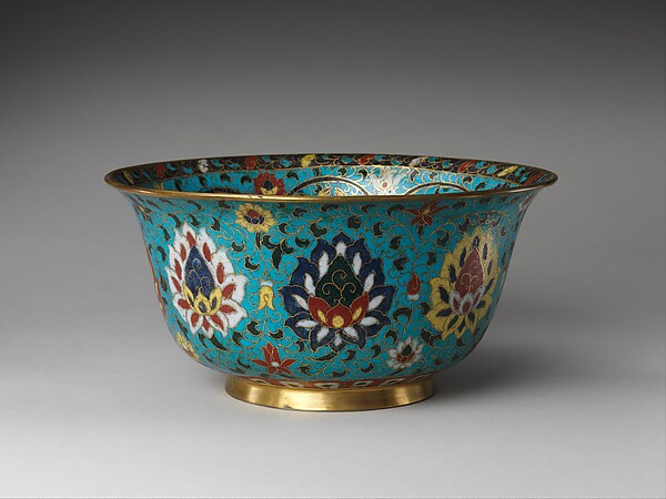 Bowl with the Eight Buddhist Treasures, Cloisonné enamel, China