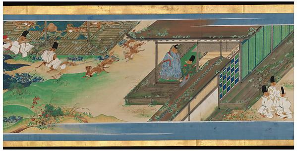 Tale of a Strange Marriage (Konkai Zoshi), Ukita Ikkei (Japanese, 1795–1859), Handscroll; ink and color on paper, Japan