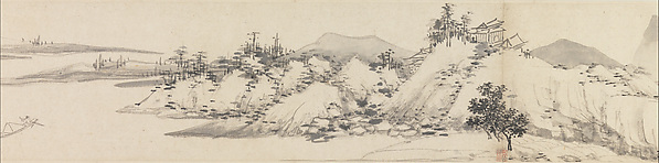 Autumn Colors among Streams and Mountains, Shen Zhou (Chinese, 1427–1509), Handscroll; ink on paper, China