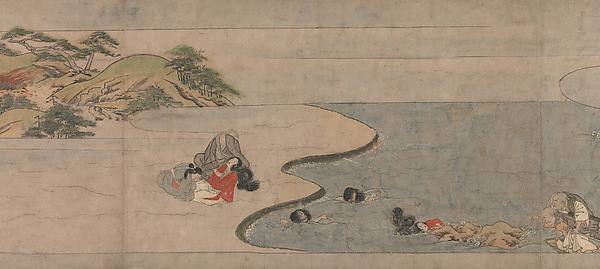 A Long Tale for an Autumn Night (Aki no yo nagamonogatari), Unidentified Artist Japanese, Handscroll 3 from a set of 3; ink, color, and gold on paper, Japan