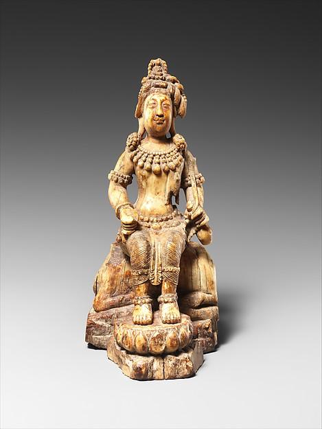Avalokiteshvara, the Bodhisattva of Infinite Compassion, Attributed to Chosying Dorje (the Tenth Karmapa) (1604–1674), Ivory, Tibet